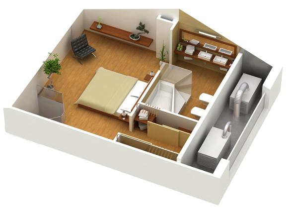 Virtual tour 3d in pdf for Planimetrie della casa di transizione
